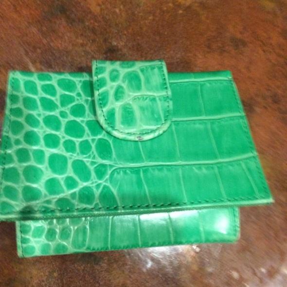 zielona portmonetka