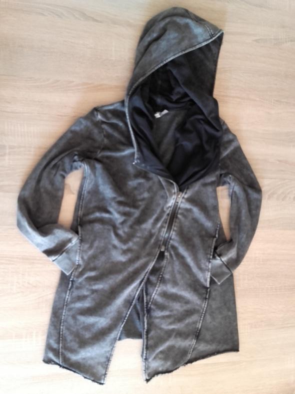 Bluzy H&M klimatyczna katana bluza z kapturem ramoneska s m oversize