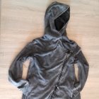 H&M klimatyczna katana bluza z kapturem ramoneska s m oversize