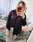 22 50 5XL Ann Harvey Plus Size Fioletowa połyskująca bluzka koszula