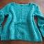 Miętowy zielony włochaty sweter Orsay