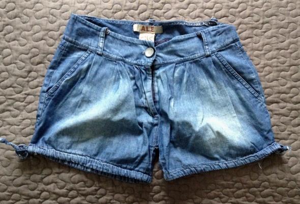 Spodenki ATTRATTIVO szorty spodenki jeansowe z wiązaniami rozm 34 XS stan BDB