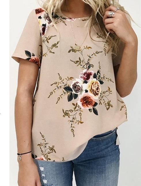 Letnia lniana bawełniana bluzka Koszula damska