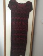 Bordowa sukienka New Look...