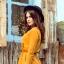 NANCY Sukienka z zamkiem kolor musztradowy S M L XL