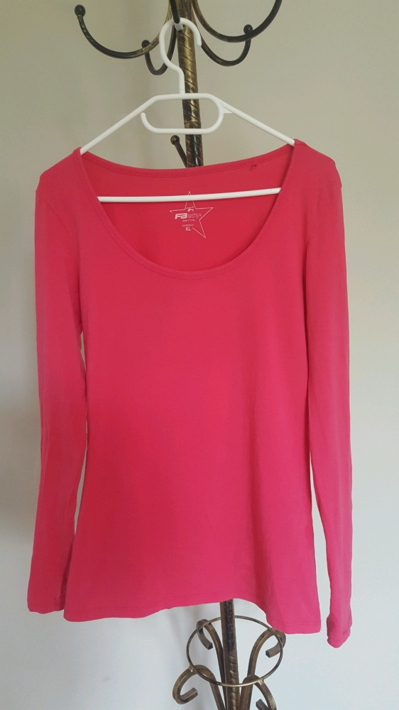 Różowa klasyczna bluzka...