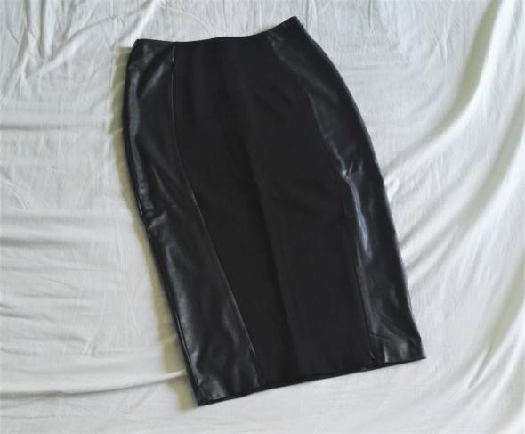 Spódnice spódnica midi eko skóra czarna 38 M F&F