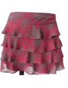 spódnica szaro różowa...