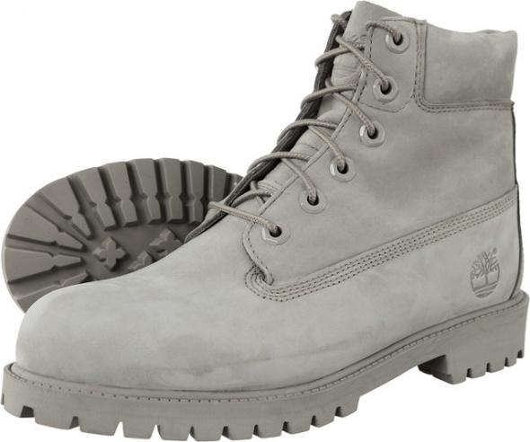 TIMBERLAND buty 6 Inch Junior Premium WP Boot Grey A172F rozm 355