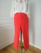Koralowe spodnie eleganckie rozmiar 40...
