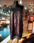 f&f sukienka cekinowa cekiny mieniąca się sylwester nowa 40 L...