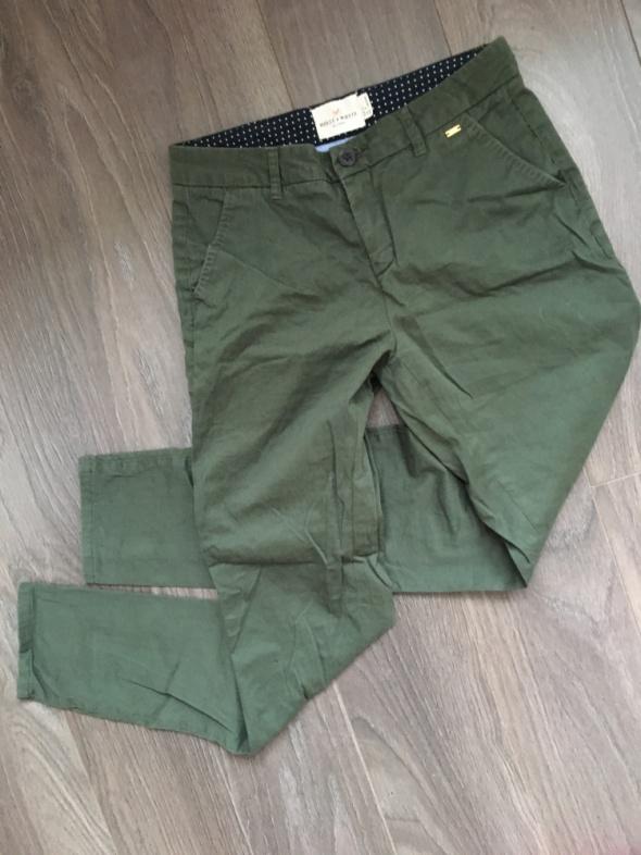 Spodnie Eleganckie cygaretki khaki XS LINDEX