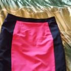 Spódnica czarno różowa na poszewce r 44 46