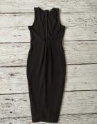 Czarna sukienka dekolt Missguided xs...