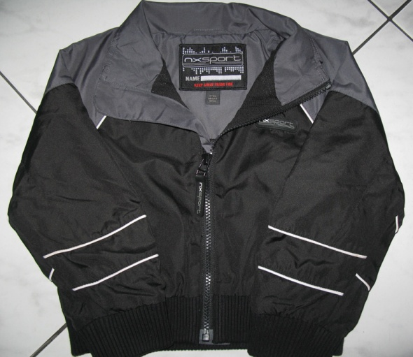 NEXT chłopięca kurtka wiatrówka czarna roz 98
