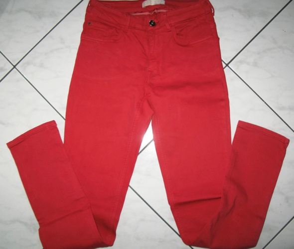 ZARA czerwone spodnie damskie jeansy roz 38...
