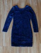 Granatowa cekinowa sukienka Mohito 38...