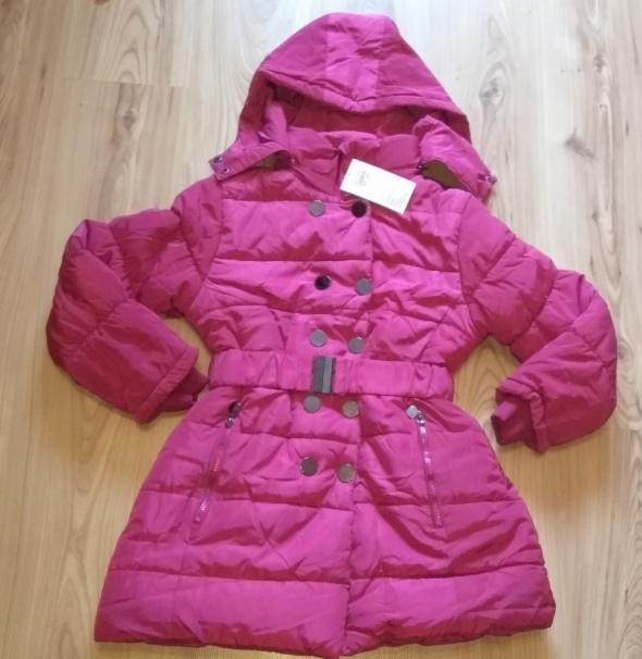 Różowa zimowa bardzo ciepla nowa kurtka dziewczęca 158 164