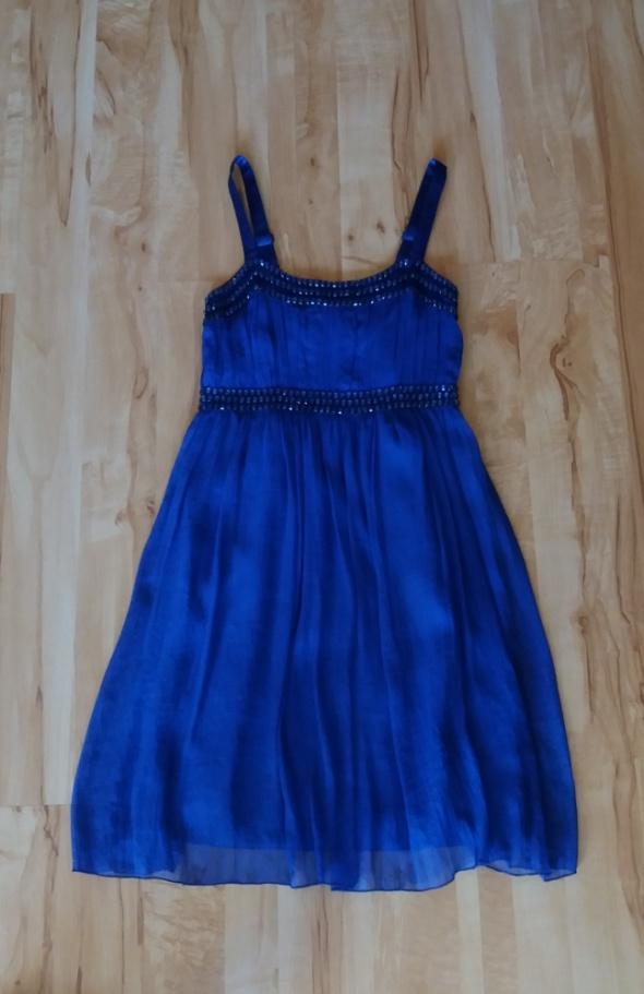 Kobaltowa sukienka 38