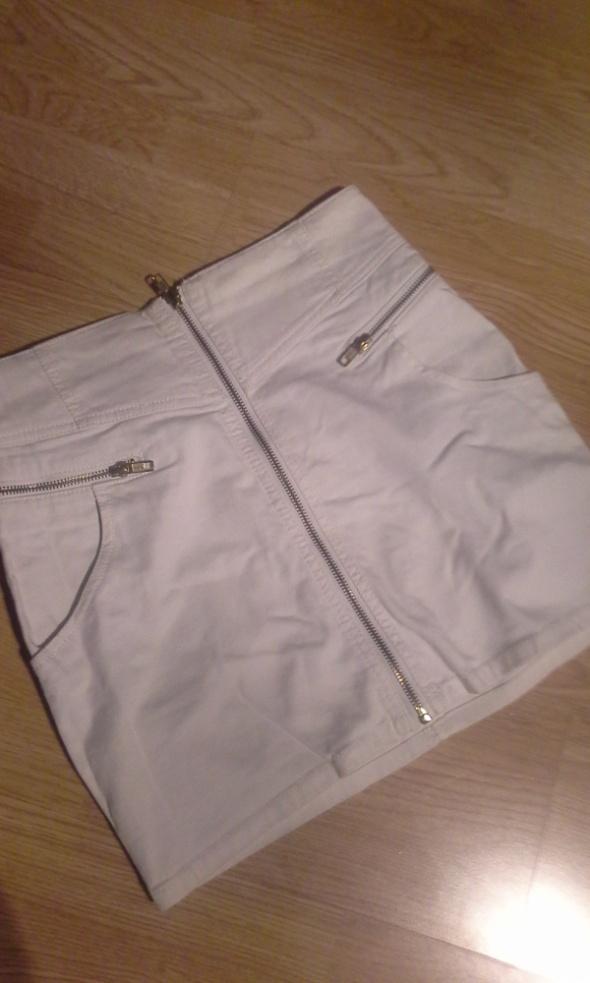 Spódnice Biała spodniczka zip H&M
