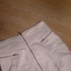 Biała spodniczka zip H&M