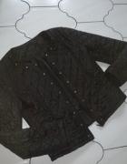 Pikowana czarna cwieki zip kurta