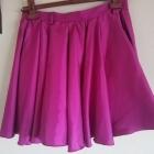 Spódnica różowa lśniąca rozkloszowana s m
