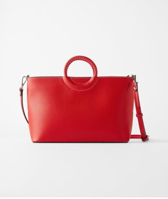 Nowa czerwona torebka Zara typu city