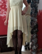 Asymetryczna szyfonowa sukienka