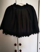 Czarna piankowa rozkloszowana spódnica...