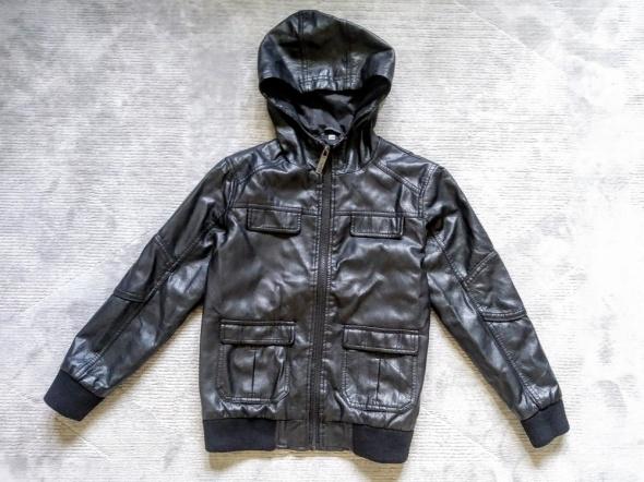 Czarna ramoneska kurtka eko skóra dla chłopca 8 9 lat Urban Outlaws