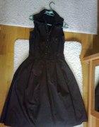Czekoladowa sukienka ZARA rozm 38 M