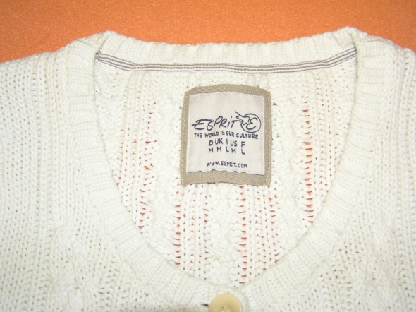 Biały sweter tunika ESPRIT...