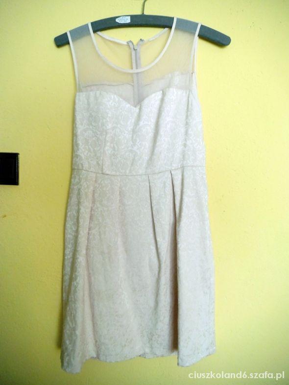 prześliczna kremowa sukienka ecru 36 wesele