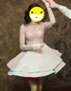 Bezowa sukienka na wesele studniówkę sylwestra loola...