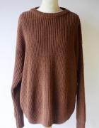 Sweter H&M XL 42 Oversize Brązowy Brąz Lużny...