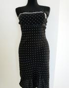 Elegancka letnia sukienka w kropki na ramiączkach