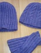 Komplet dwie czapki i zarękawki FLIOTET
