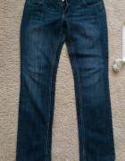 Spodnie jeansowe dżinsy granatowe rurki rozm 40 42