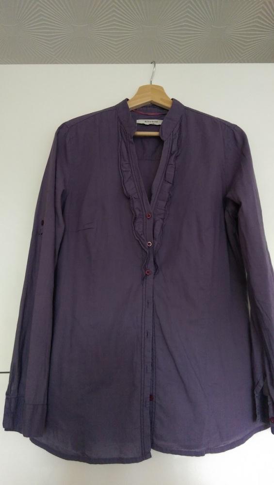 Bluzki Bluzka koszula Reserved fiolet żabot rozm 40