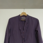 Bluzka koszula Reserved fiolet żabot rozm 40