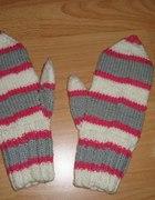 Rękawiczki łapki w paski...