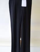 Spodnie NOWE Czarne Rozporki Rozszerzane Bershka XS 34...