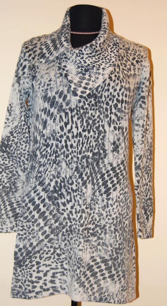 Swetry SWETER TUNIKA PANTERKA BETTY BARCLAY COLLECTION