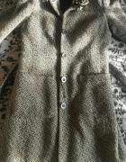 szary elegancki płaszcz z paskiem 38 80 zł...