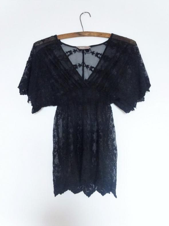 bluzka tunika koronkowa czarna s 36 Awear...