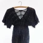 bluzka tunika koronkowa czarna s 36 Awear