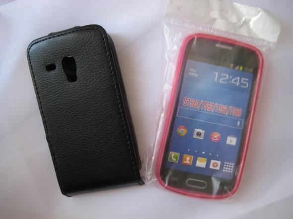 etui futerał pokrowiec plecki na telefon Samsung Galaxy S mini silikon fuksja gratis folia ochronna
