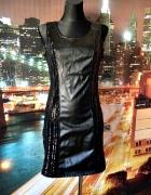 sukienka eko skóra cekiny cekinowa sylwester zip hit 40 L...