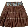 Nowa BERSHKA spódnica floral haft boho folk L